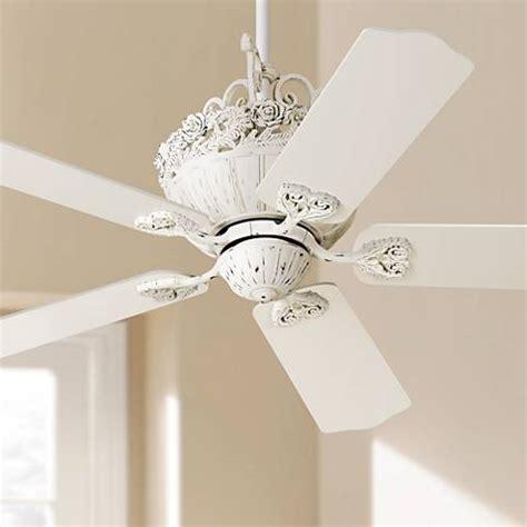 chic ceiling fan 52 quot casa chic rubbed white ceiling fan 12277 ls plus