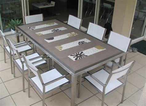 table de jardin en mosaique 2630 d 233 co jardin avec mosa 239 que en 28 beaux exemples
