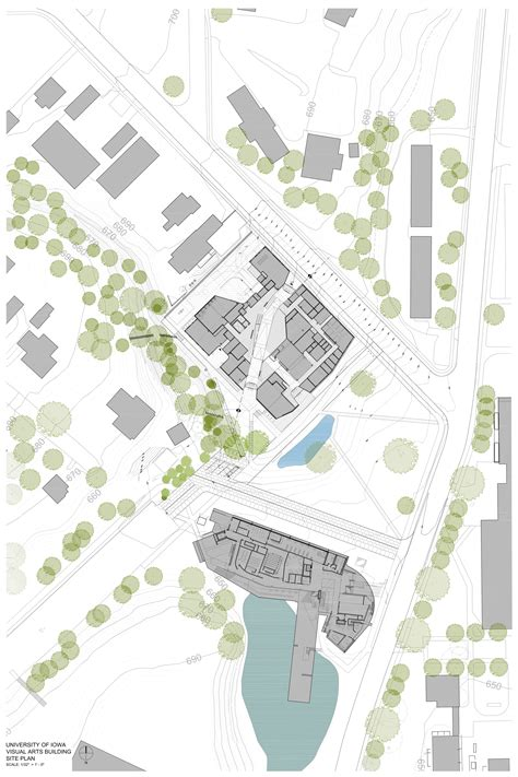 site plan architecture pinterest gallery of visual arts building at the university of iowa