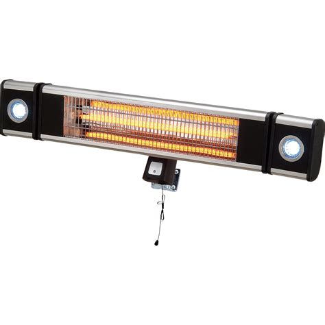 wall mounted electric heater with integrated led lights