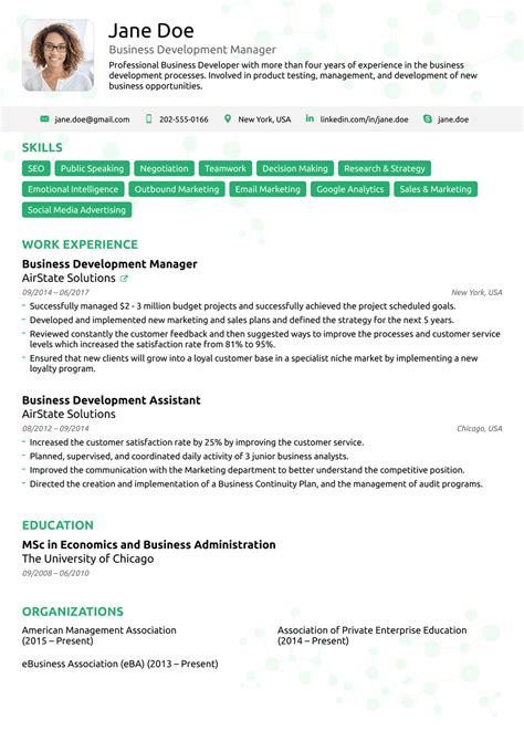 Professional Business Resume Template by 2018 Professional Resume Templates As They Should Be 8
