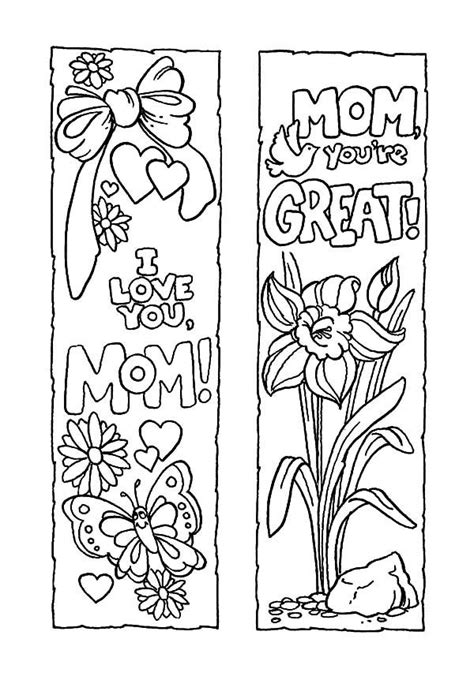 Mothers Day Bookmarks For Coloring: Proverbs godly woman