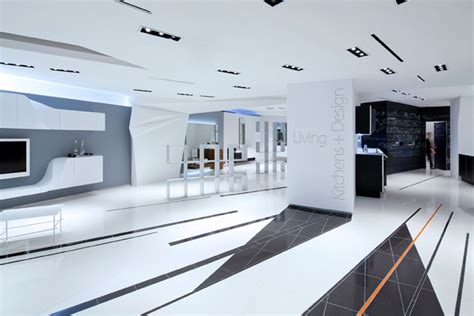 Tile Layout Designs Snaidero Usa Showroom Living Design By Giorgio Borruso