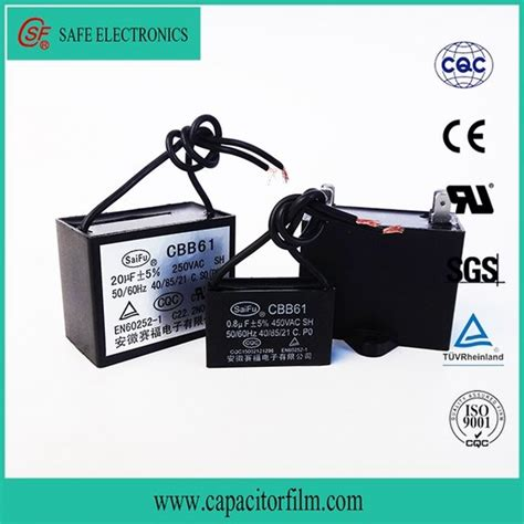 run capacitor small cbb61 ac motor run capacitor with small dissipation factor from anhui safe electronics co