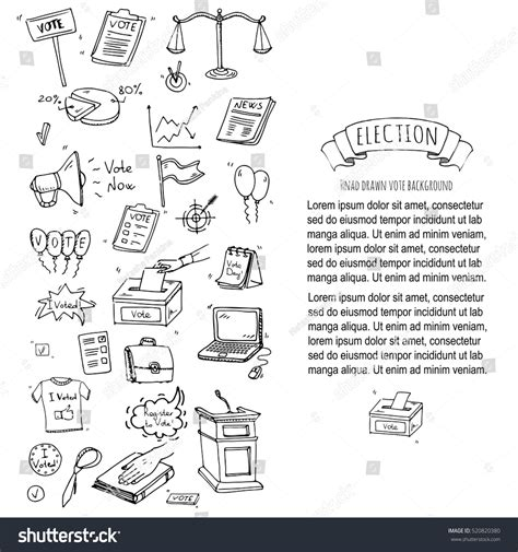 doodle poll confidential doodle vote icons set stock vector 520820380