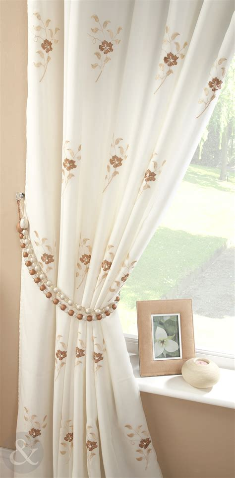 voile curtains pearl lined voile curtains floral embroidered pencil pleat ready made curtain