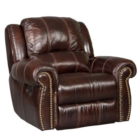 Seven Seas Leather Recliner furniture seven seas leather glider recliner in