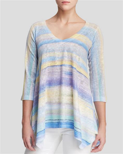 Pastel Blouse Gucci Tunik Knit nally millie pastel stripe tunic top in blue lyst