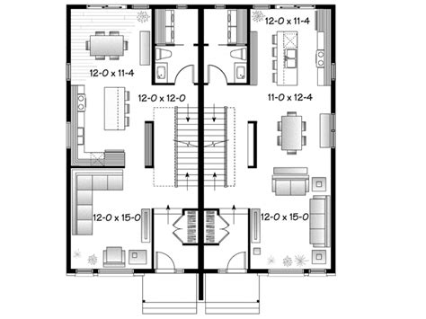 eplans contemporary house plan contemporary semi