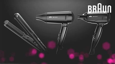 Braun Hair Dryer Products braun satin hair style go travel hair dryer and mini
