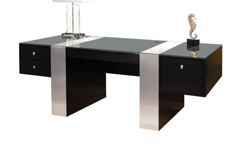 Black Modern Desk with Sh02 Wenge Color Desk Executive