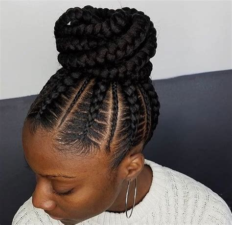 big braids for updo flawless braided bun by narahairbraiding http