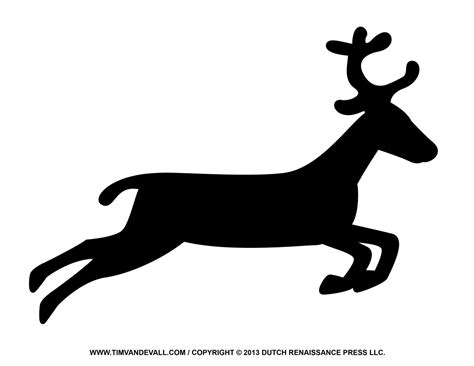 Reindeer Silhouette Template Free Reindeer Clipart Template Printable Coloring Pages For Kids