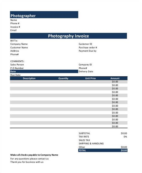 sle template for a receipt of payment photography receipt template 28 images 5 photography