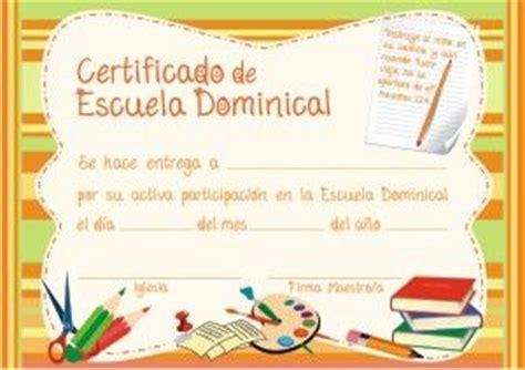 Certificados De Escuela Dominical | certificados de escuela dominical x 10 u www