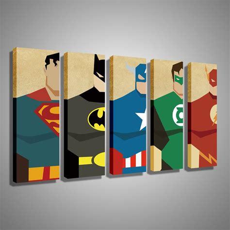 superhero bedroom paint ideas oil painting canvas super hero superman batman cartoon modular decoration home decor modern wall