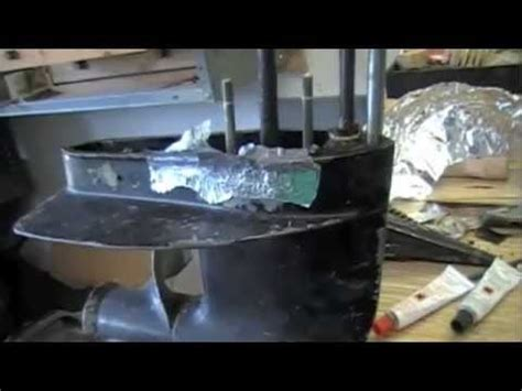aluminum boat jb weld outboard motor foot repaired with jb weld youtube
