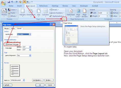 delete header section how to remove header and footer from the first page of