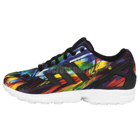 adidas originals zx flux multi color rainbow mens running shoes sneakers af6323 ebay