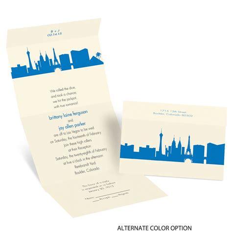 Cheap Vegas Wedding Invitations by Las Vegas Skyline Seal And Send Invitation Invitations