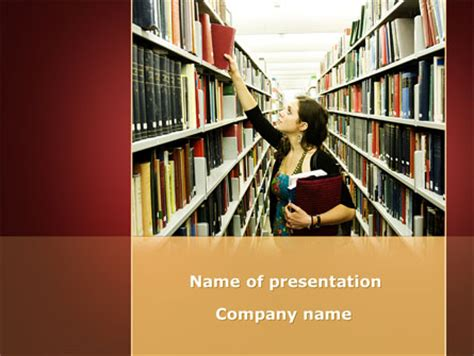 powerpoint templates library free bookshelves of library free presentation template for