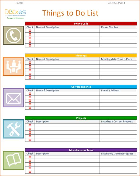 8 list template bookletemplate org