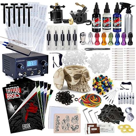 tattoo kits amazon rehab ink professional kit w 3 ink colors skull