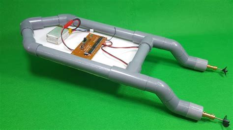 pvc rc boat trailer how to make rc boat twin 180 motor using pvc pipe doovi