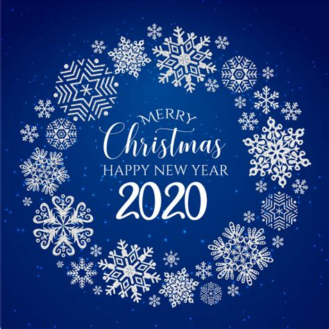 white blue merry christmas  happy  year  greeting card vector premium