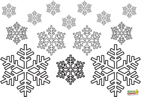 free coloring pages of winter snowflakes