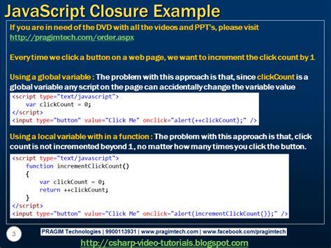 javascript tutorial closure sql server net and c video tutorial javascript closure
