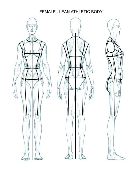 The Gallery For Gt Female Fashion Figure Templates Front And Back Fashion Drawing Template