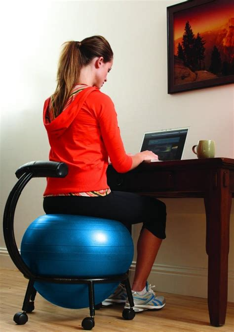 yoga ball desk chair amazon com gaiam custom fit adjustable balance ball