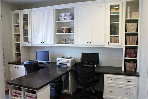 Dual Desks Home Office Diy Dual Office Desk Make My House A Home Pinterest Countertops Built In Desk And Desk