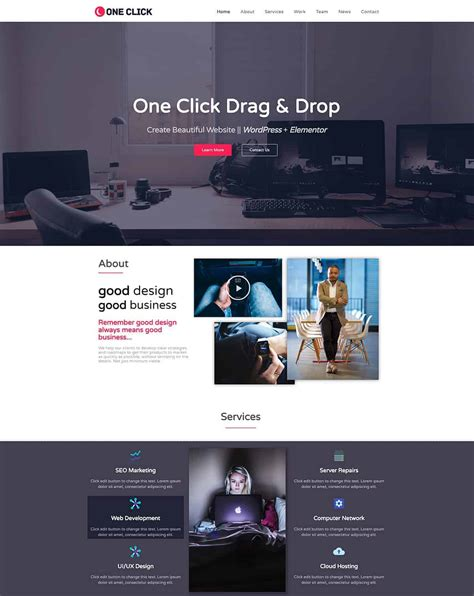 Free And Premium Elementor Templates For Wordpress Dessign Themes Best Theme Templates