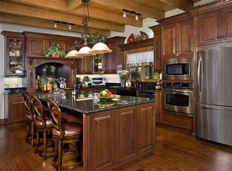kitchen cabinets dark wood photos of a florida log home dark countertops dark wood