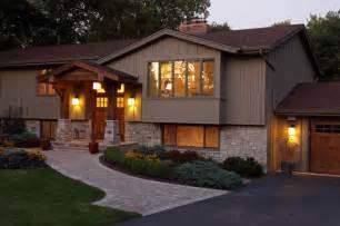 Bi Level Home Interior Decorating Exterior Traditional Exterior Minneapolis By