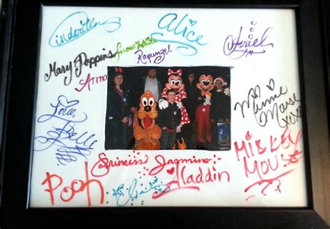 Disney Autograph Photo Mat - easy diy character autograph photo mat just a disney