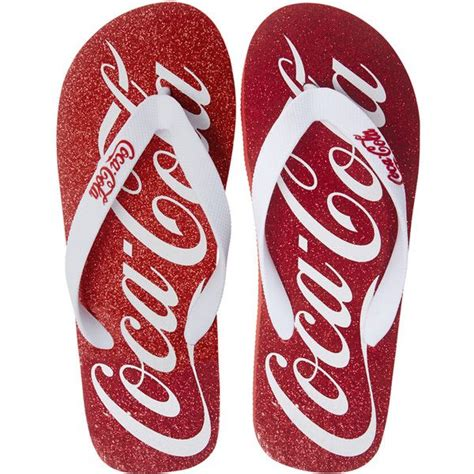 coca cola slippers coca cola flip flops found on polyvore top shoes