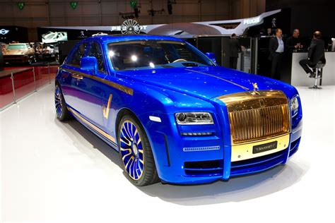 roll royce ghost blue new mansory rolls royce ghost skips on the gold flakes