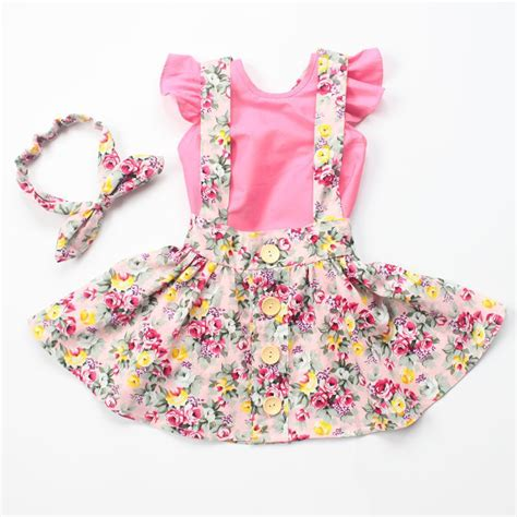 Baby Dress Newest 2016 Import 2016 new style baby fashion dress clothes headband set baby vintage floral clothes
