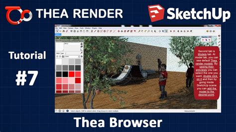 tutorial thea render sketchup thea render for sketchup thea material browser
