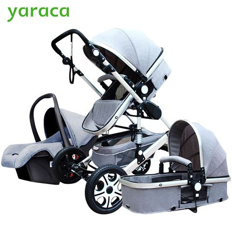foldable car seat for 1 year baby stroller 3 in 1 with car seat high landscope folding