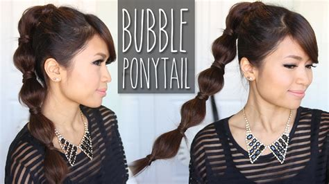 bubbles hair style pics bubble ponytail hairstyle medium to long hair tutorial