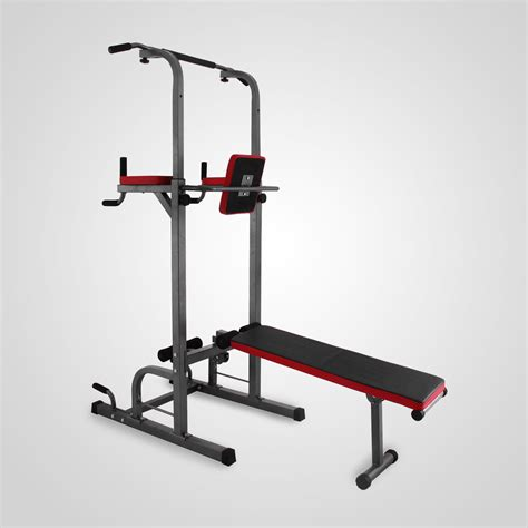 dip bench station power tower dip station with bench bar strength multi