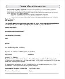 questionnaire consent form template sle survey consent forms 8 free documents in pdf word