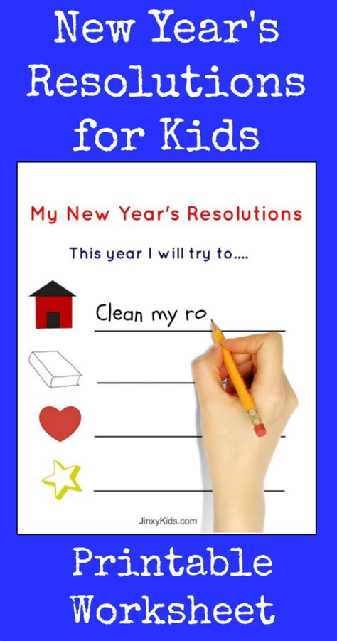 new year resolutions printable kid free free printable new year s resolutions activity sheet for jinxy