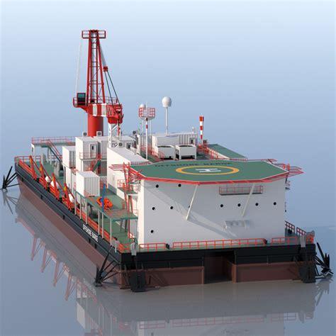Barge 3d Model