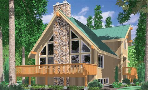 small a frame house plans a frame house plans vacation house plans masonry fireplace