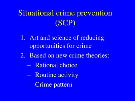 crime pattern theory review ppt 25 techniques of situational crime prevention